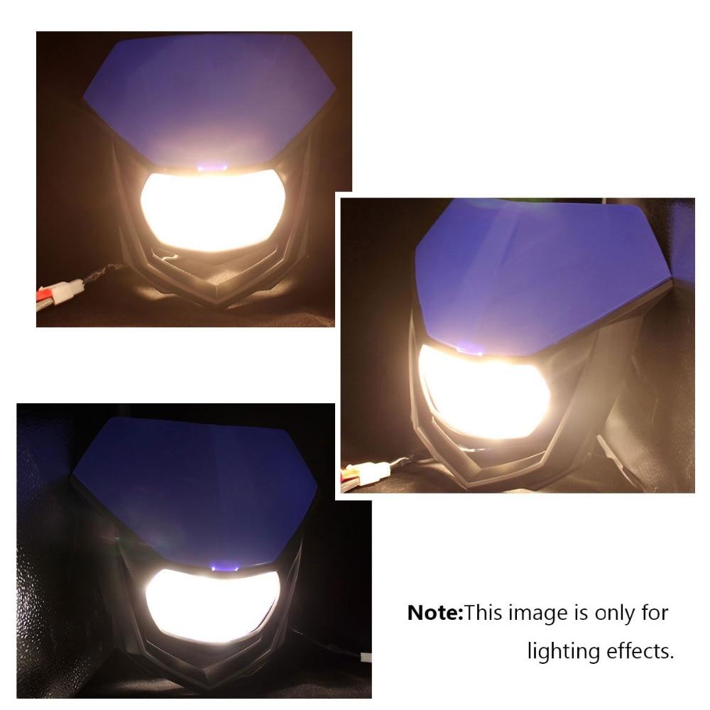 For KAWASAKI KX KLX KXF KMX KDX KLF 450 Dirt Bike Headlight Headlamp Colors
