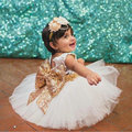 Sleeveless Princess Dress For Girl Sequin Bow Dress Lace Party Wedding Dresses Baby Vestido Infantil Kids Clothing KD375