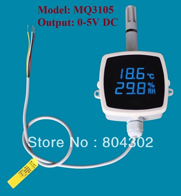 Humidity & temperature transmitter, humidity sensor, wall or outdoor mounting, 0~5V output, MQ3105