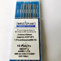 2016 Factory Direct Sale 10pcs WL15 1 5 Lanthanated TIG Welding Tungsten Electrode 2 4mm 150mm