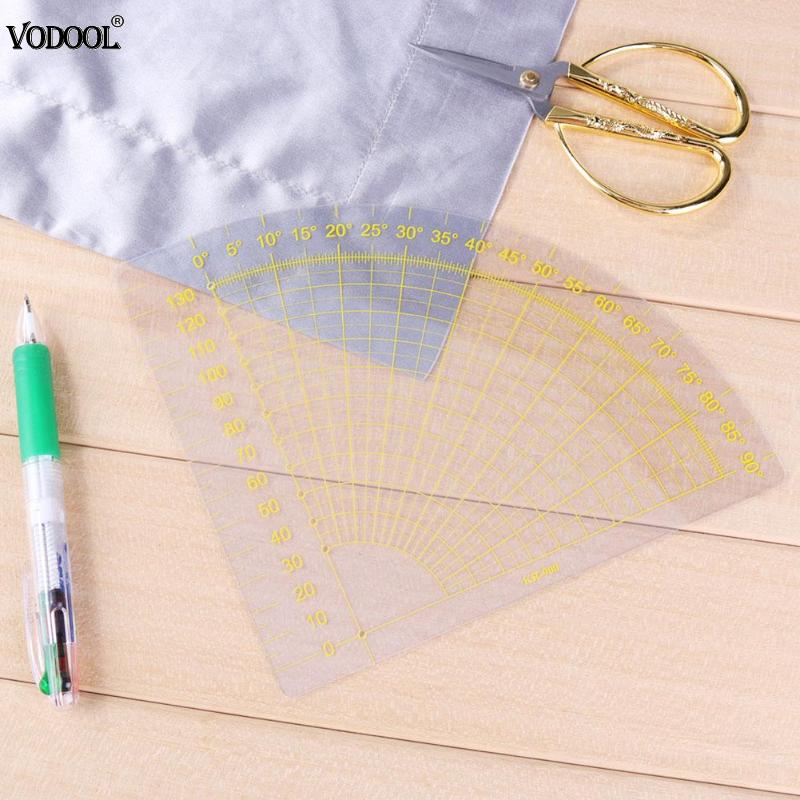 VODOOL Fan Shape Foot Seam Ruler Quilting Patchwork Ruler Scrapbooking Cutting Tool Craft Tailor DIY Sewing Ruler Stationery