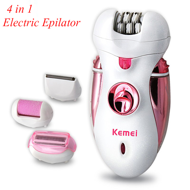 Recargable barba trimmer Depiladora eléctrica De Las Mujeres 2016 Nuevo Mujeres Afeitadora Señora Depiladora la Depilación Eléctrica Pie KM-2530