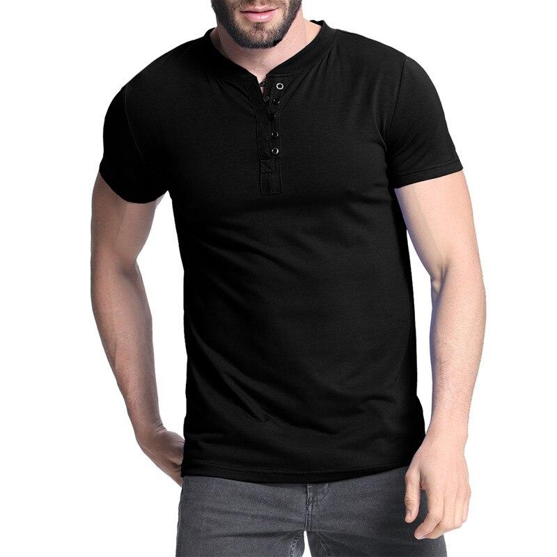 Stylish Men/'s Summer Short Sleeve Shirts T-shirt Lapel Slim Fit Tee Tops