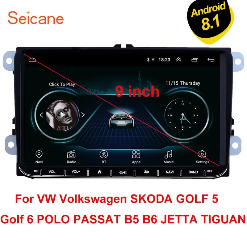 Seicane For VW Volkswagen Golf Polo Tiguan Passa MK5 MK6 Jetta Touran Seat Android 8 1