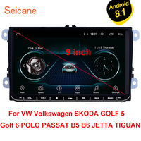 Seicane For VW Volkswagen Golf Polo Tiguan Passa MK5 MK6 Jetta Touran Seat Android 8.1 9 Car Autoradio GPS Multimedia CANBUS 3G