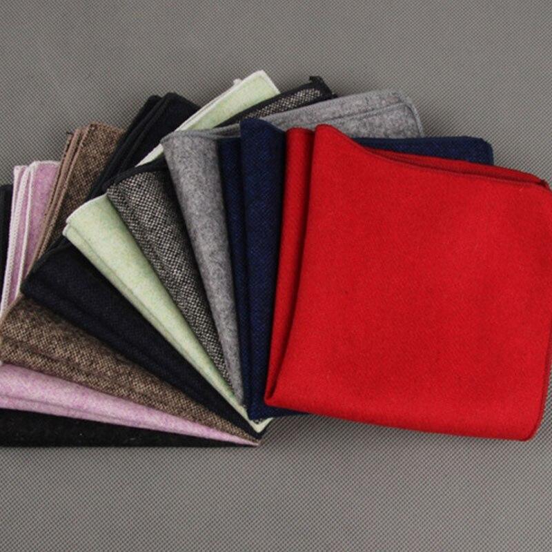 Mantieqingway 7PCS/LOT Solid Color Men's Weddding Handkerchief Pocket Square Chest Towel Hanky Formal Business Suit For Mens