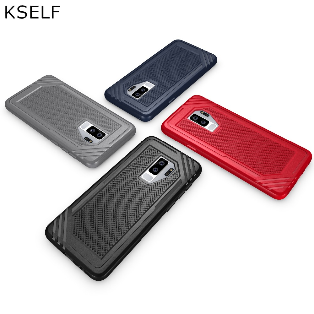 KSELF Soft TPU Case For Samsung Galaxy S9 Plus Cases Silicone Cover Shockproof Armor Coque For Samsung Galaxy S9 S9 Plus