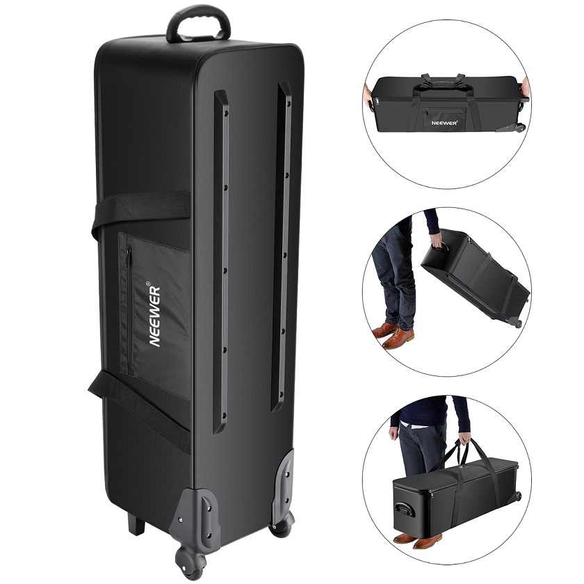 Neewer Photo Studio Equipment Rolling Bag Trolley Carrying Case for Light Stand Tripod Strobe Light,Umbrella,Photo Studio