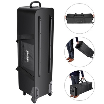 Neewer Photo Studio Equipment Rolling Bag Trolley Carrying Case for Light Stand Tripod Strobe Light,Umbrella,Photo Studio