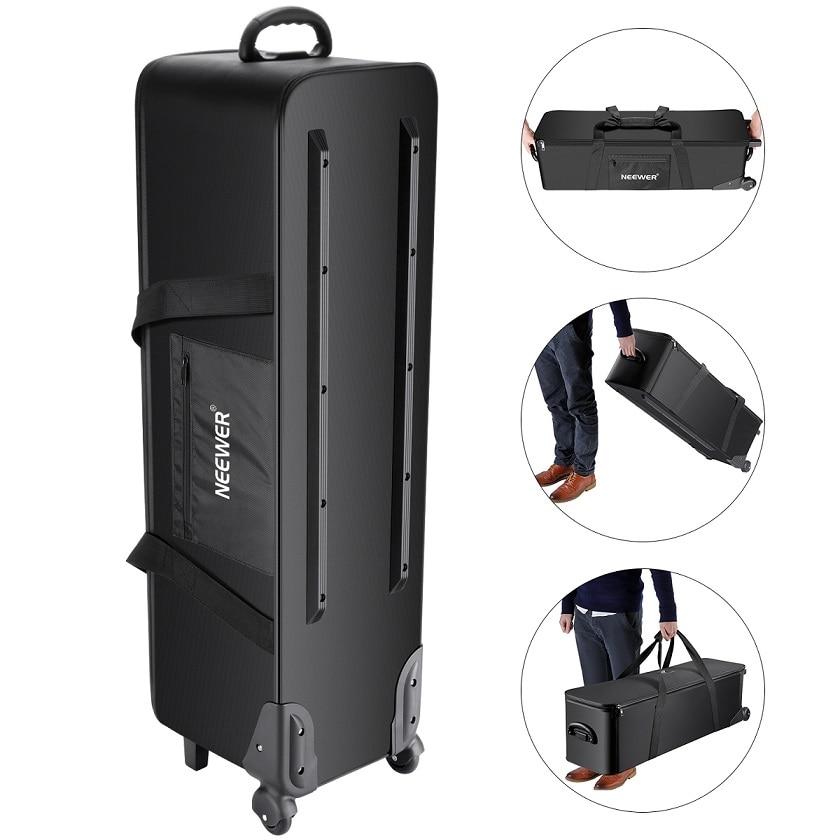 купить Neewer Photo Studio Equipment Rolling Bag Trolley Carrying Case with Padded Compartment for Light Stand Tripod Strobe Light по цене 5790.97 рублей