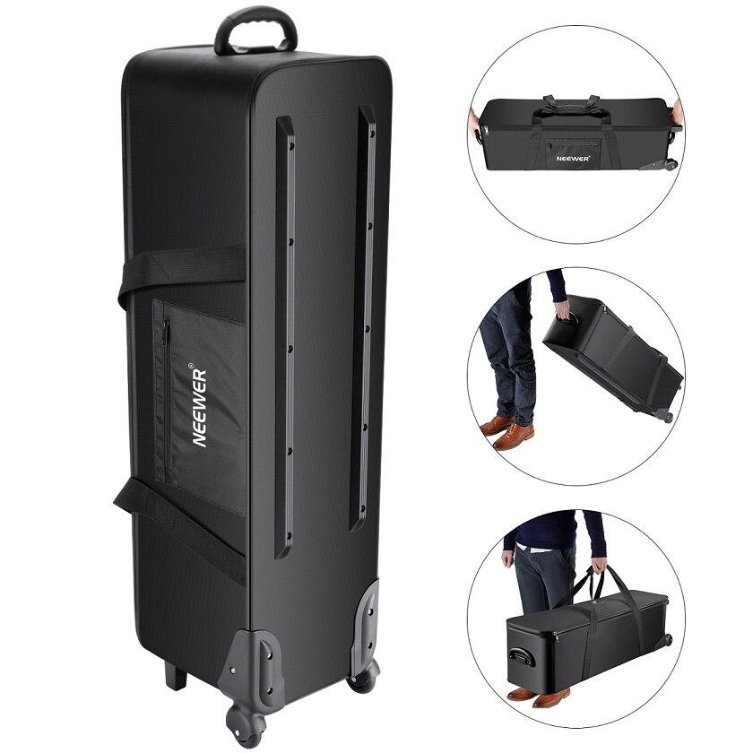 Neewer appareil Photo Studio sac roulant valise de transport pour support de lumière trépied lumière stroboscopique, parapluie, Studio Photo
