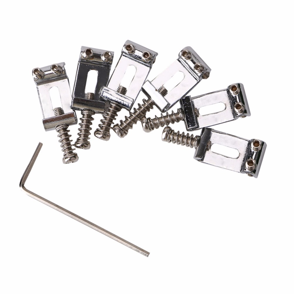 US $7 31 41% OFF|Homeland New Arrival 6PCS/set Chrome Tremolo Bridge Saddle  For Fender Strat Electric Guitar Guitarra Accessories Parts-in Guitar