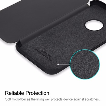 Dr.v Series Flip Cover for iPhone 7 7 plus, ROCK Invisible window full screen protection Phone flip case for iPhone 7 7 plus 3