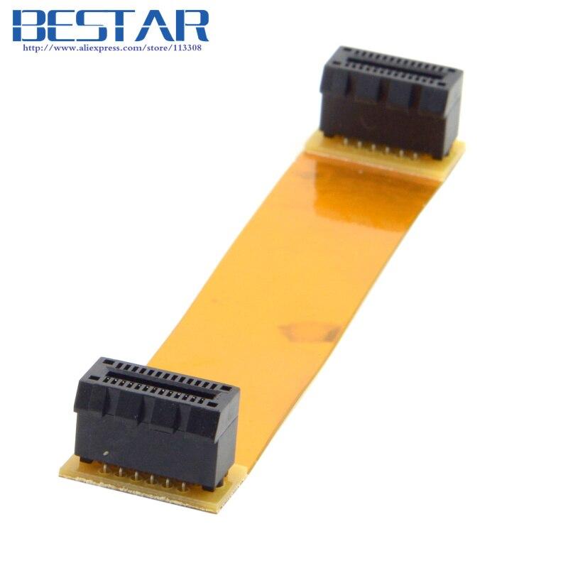 (100 pieces/lot) For Nvidia SLI Asus Crossfire Interconnect Bridge Flex 100mm PCI-E 1x 26pin Female to Female Cable