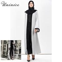 UNINICE Lace Long Cardigan Abayas Turkish Robe Ramadan Muslim Women Dress Pictures Abaya Dubai Long Sleeve