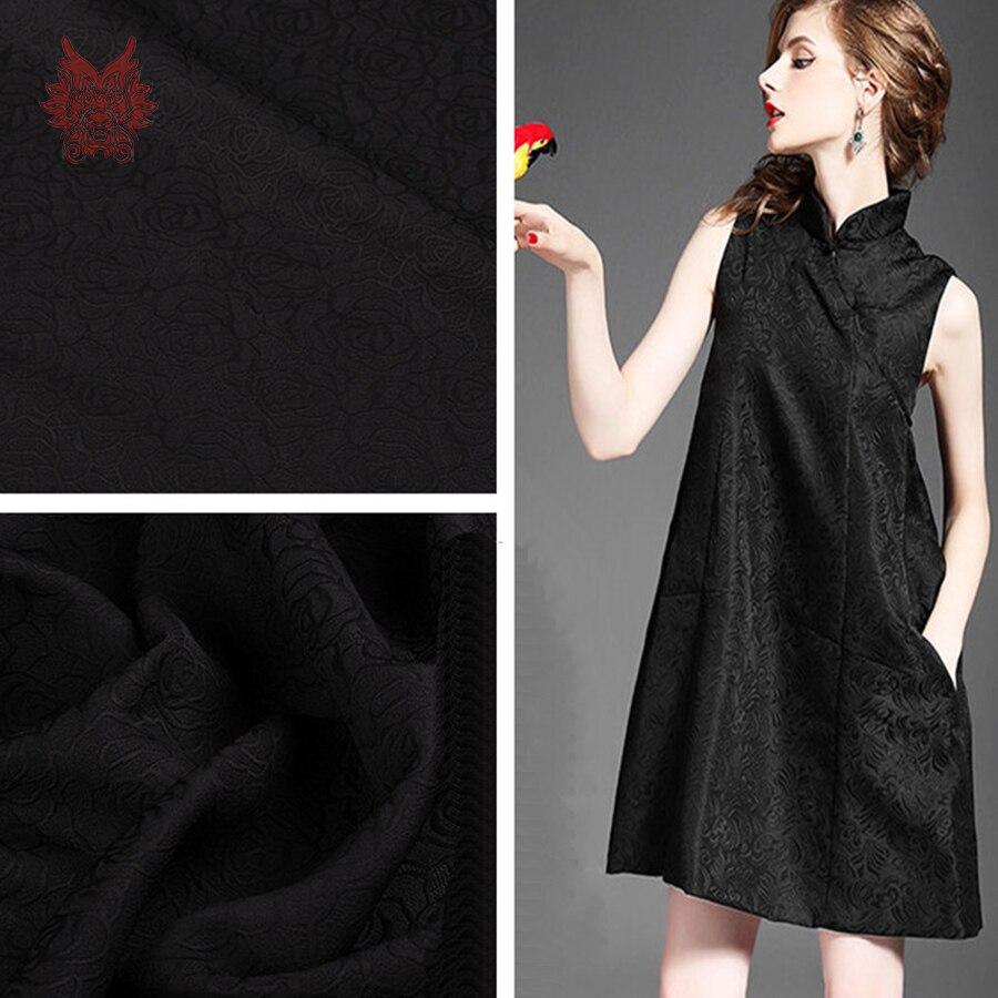 Жаккард черный платье