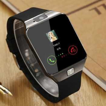 Pantalla táctil reloj inteligente dz09 con cámara Bluetooth reloj de pulsera tarjeta SIM reloj inteligente para teléfonos Android Ios compatible con varios idiomas