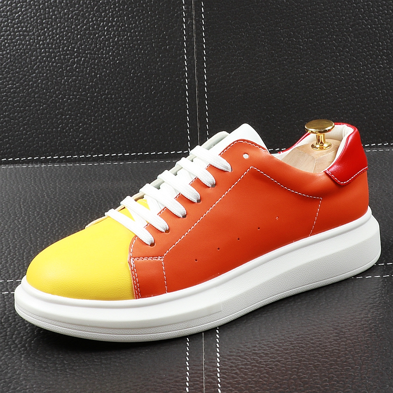 Cuddlyiipanda 남성 캐주얼 신발 봄 가을 두꺼운 바닥 통기성 보드 신발 남성 청소년 동향 여러 가지 빛깔의 신발-에서남성용 캐주얼 신발부터 신발 의  그룹 1