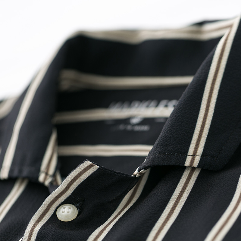Markless Men Shirts camisa masculina Classic Black White Stripe Shirt Men M XXL Fashion Casual chemise homme CSA8506M in Casual Shirts from Men 39 s Clothing
