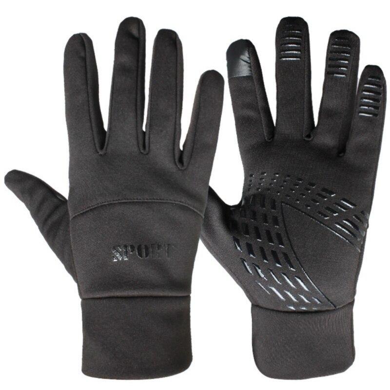 Touch Screen Gloves Winter Warm Anti-Slip Gloves Driving Cycling Running Gloves Thin Fleece Lining Gloves For Men Women