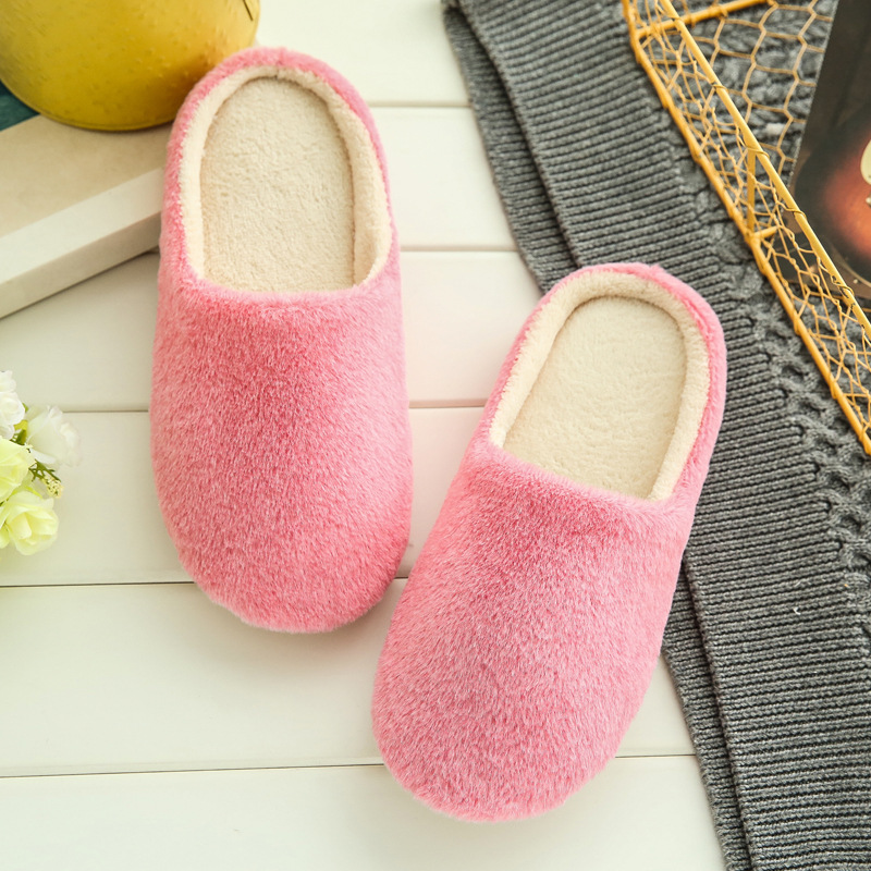 2018 Soft Plush Cotton Cute Slippers Shoes Non-Slip Floor ,Indoor House ,Home Furry Slippers Women Shoes For Bedroom TX002W women floral home slippers cartoon flower home shoes non slip soft hemp slippers indoor bedroom loves couple floor shoes