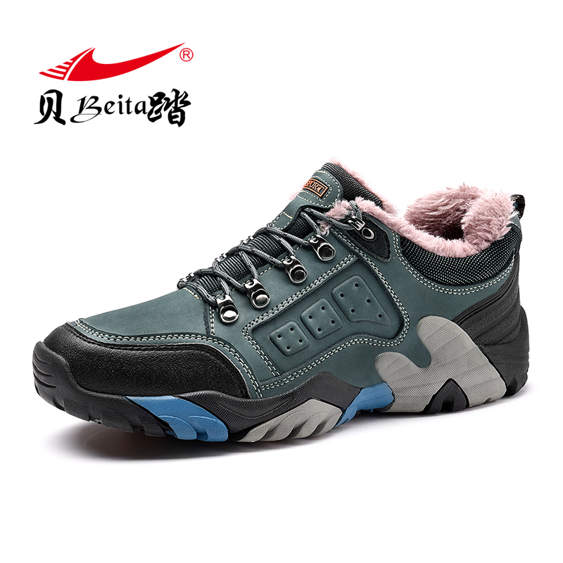 Beita 2017 New Arrival Winter Warm Men Hiking Boots Outdoor Trekking Climb Montain Hiking Sneakers Men Big Size HIking Shoes 2017 hot sell big size outdoor boots men high top warm snow boots winter hiking shoes leather men trekking sneakers black