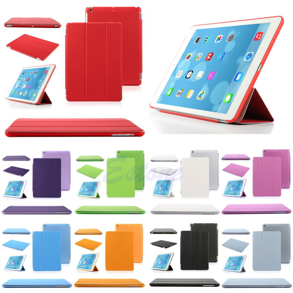 OOTDTY Ultra Thin Magnetic Stand Smart Cover Back Case Holder For Apple iPad Mini 1/2/3