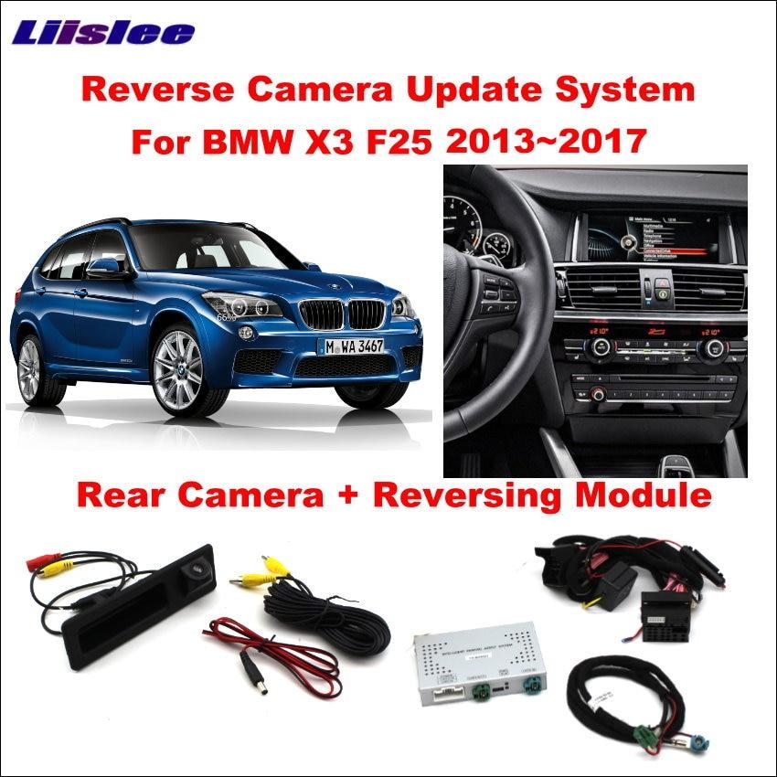 Liislee Car Original Screen Update System For BMW X3 F25 2013~2017 NBT System Reversing Module Rear Camera Decoding Track Box web page
