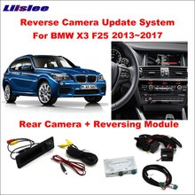 Cheaper Liislee Original Screen Update System For BMW X3 F25 2013~2017 NBT System / Reversing Module + Rear Camera / Decoding Track Box
