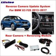 Tylna kamera cofania samochodu dla BMW X3 F25 2013 ~ 2017 NBT System oryginalny ekran Upgrade dekoder Track Box moduł interfejsu
