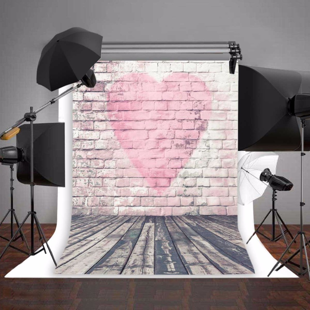Photo Background Brick Wall for Baby Studio Children Wooden Floor Photography Backdrops Vinyl 5x7ft or 3x5ft JIEJP041