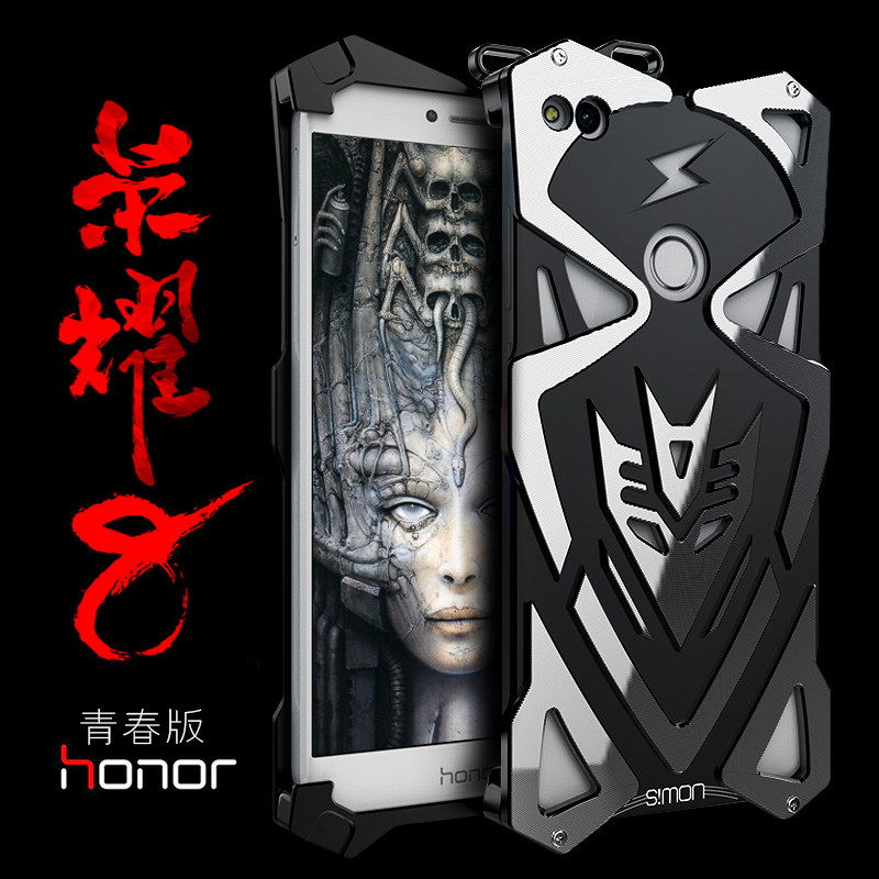 imágenes para Simon huawei honor 8 lite case metal armor thor ironman cnc cubierta de aluminio case para 5.2 pulgadas del teléfono huawei honor 8 lite 2017