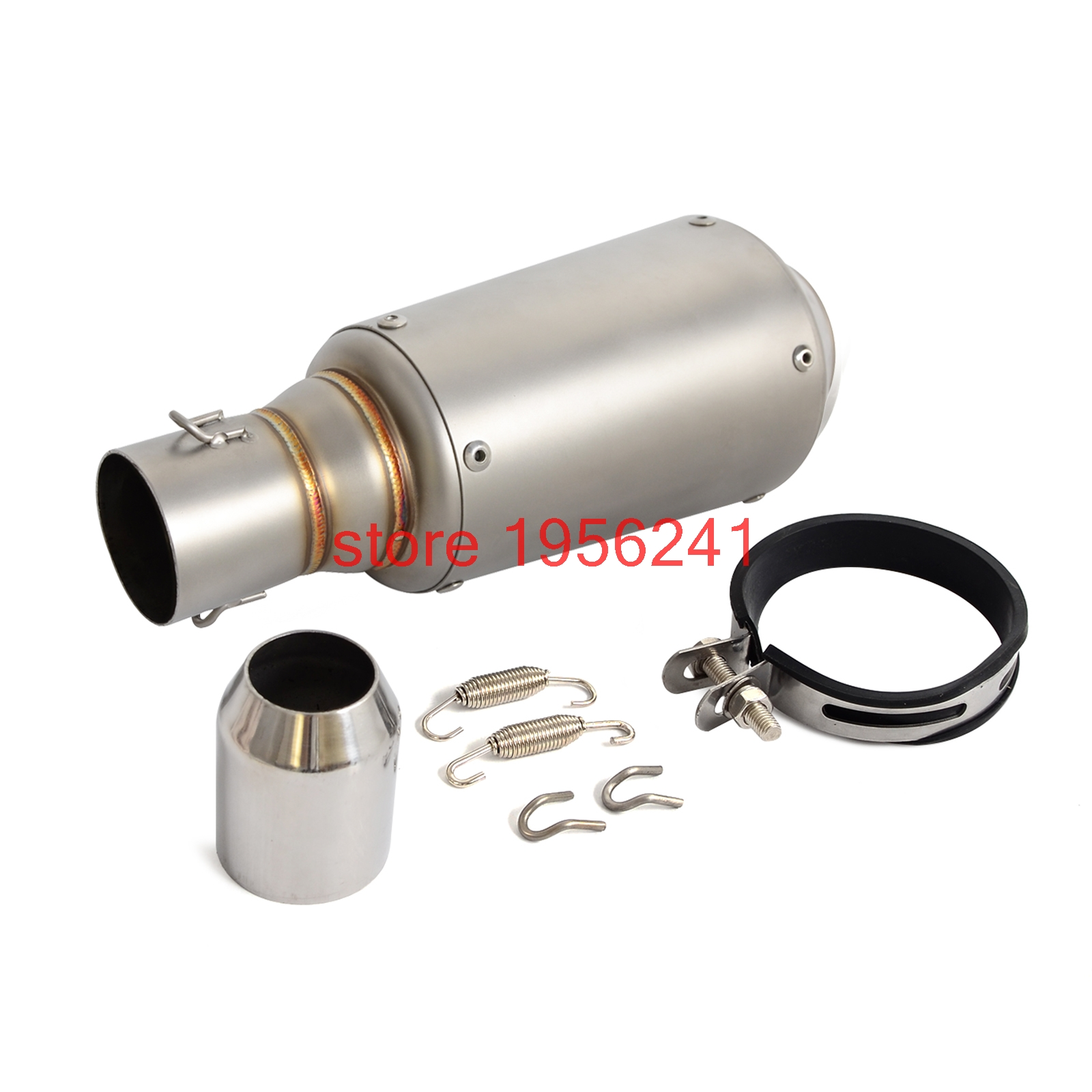 Motorcycle GP Exhaust Muffler 38mm - 51mm Clip-on For Dirt Bike Street Bike Scooter ATV Quad