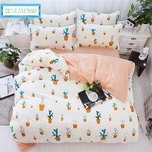 Лучшее. WENSD бамбуковое волокно комплект постельного белья с фруктами лимон-олень-полоска-Королева Размер спальные комплекты с одеялом пододеяльник