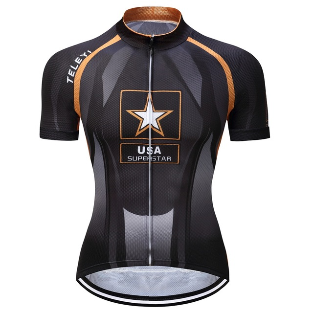 191e165a5 Men Polyester USA Star Bicycle Clothes Pro Team Racing Jersey Bicicleta  Clothes Breathable Roupa Ciclismo MTB Bike Jersey