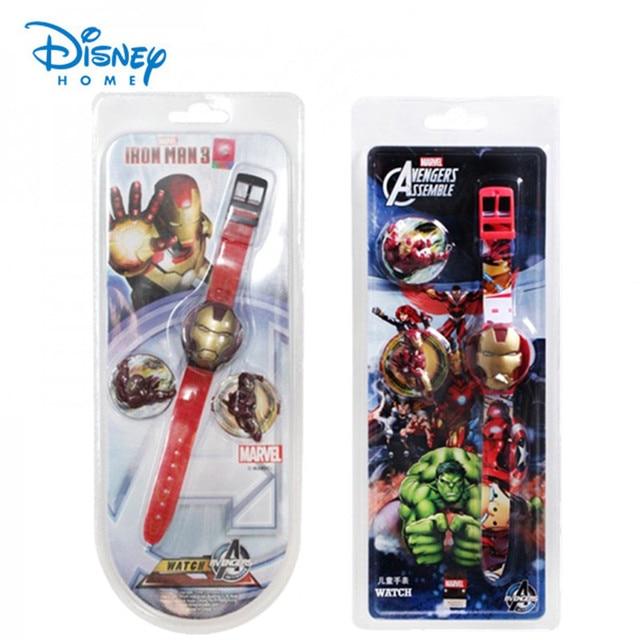 100% Genuine Disney watch Iron Man watches kids fashion cartoon watch Silicone Brand Fashion Watches