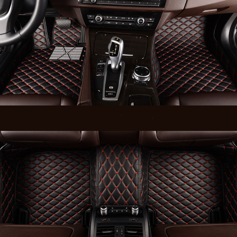 kalaisike Custom car floor mats for Mitsubishi All Model ASX lancer pajero sport outlander pajero dazzle car styling accessories custom fit car floor mats for mitsubishi lancer asx pajero v73 v93 3d car styling all weather carpet floor liner ry205
