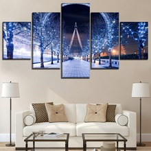 Small Dream Street Modern Decor Landscape Painting Home Picture Wall Art Canvas HD Printed Paintings