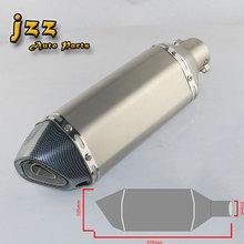 JZZ universal motorcycle exhaust carbon pipe akrapovic muffler for motorcycle escape moto pipe db killer scooter sound bomb tube