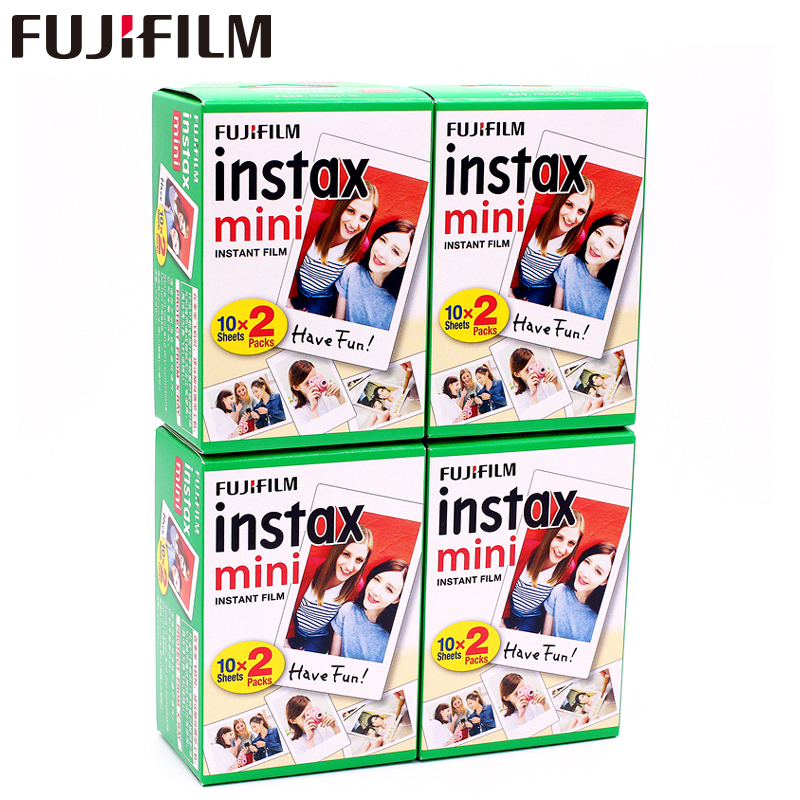 D'origine Fuji Fujifilm Instax Mini 8 Film 80 feuilles Blanc Bord Photo papiers Pour 7 s 8 9 90 25 55 Part SP-1 SP-2 Instantanée caméra