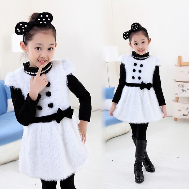 0b2a32f3f Children's Fashion Clothes Baby Girl Winter Dress Girls Fleece Thick Warm  Winter Dress,Vestidos Little Girl Party Dress 0-4 age