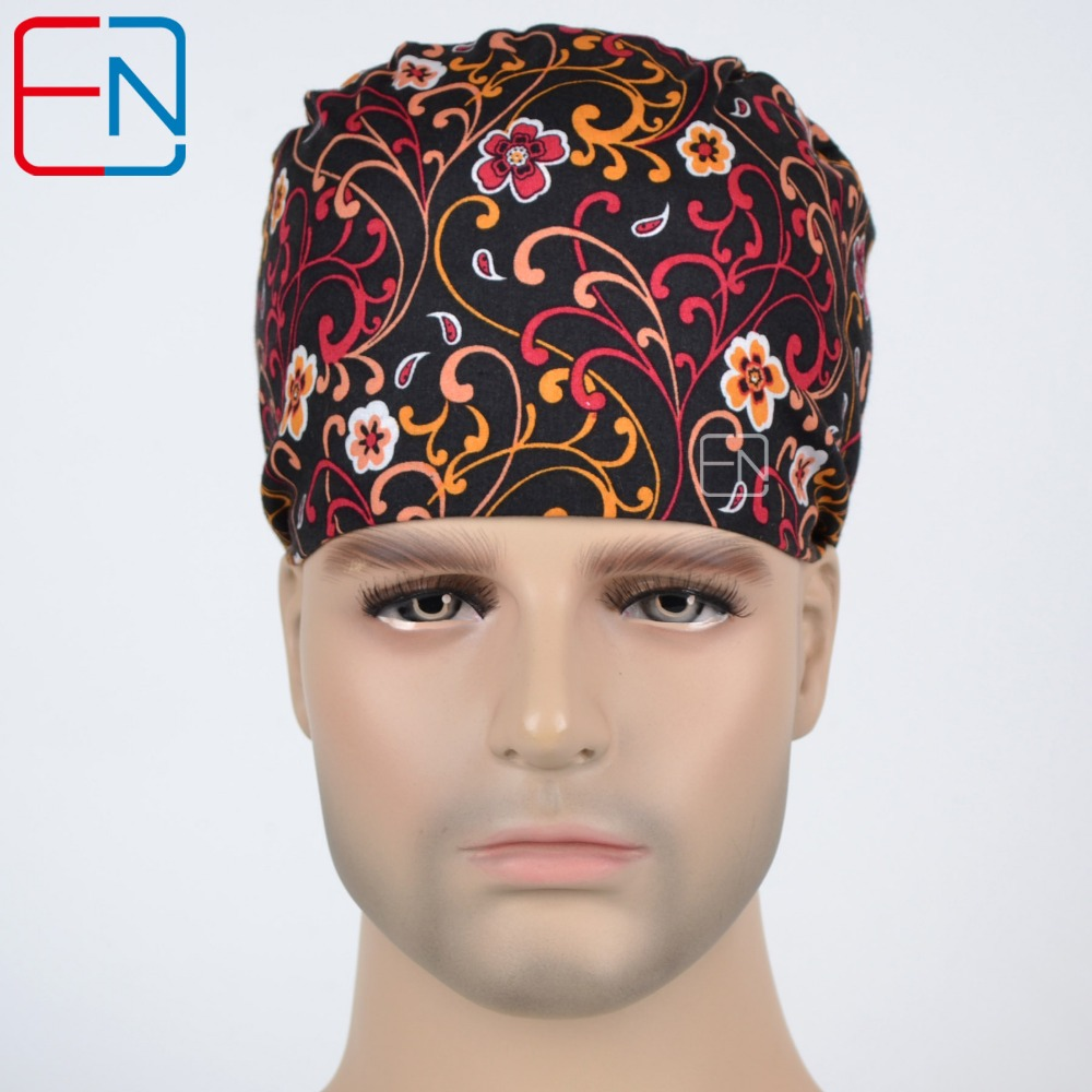 Unisex Surgical Scrub Cap Hat With Sweatbands  Shine