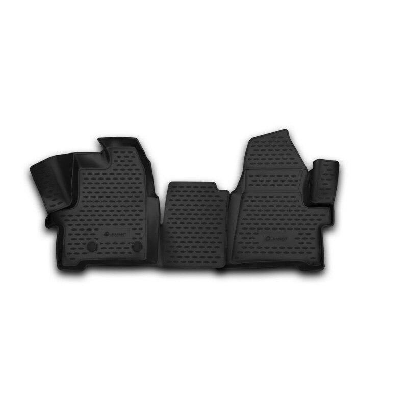 Tapetes de carro 3D salão Para FORD Tourneo Custom/Costume de Trânsito, (1 + 2 assentos) 2013-2017, 2 PCs