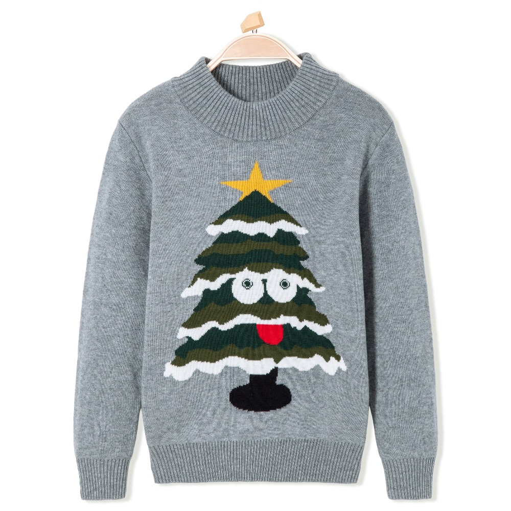 Thermal Sweater Cardigan Round Neck Slim Fit Christmas Pattern Clothes Knitwear Snow Wear Pullover for Kid Children Boy Knitted t100 children sweater cotton toddler boy sweater o neck long sleeve knitted boy sweater brand pullover cute pattern boys clothes