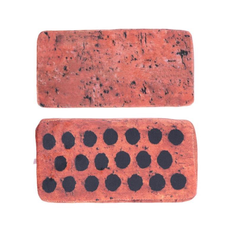 Creative Simulated Brick Shape Novelty Prank Joke Toy Brick Look Soft Stuffed Plush Pillow Sofa Floor Decoration