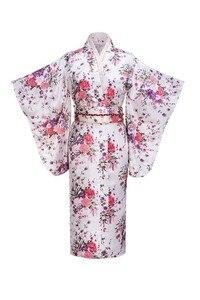 Женское винтажное платье-кимоно Yukata, синее вечернее платье, один размер