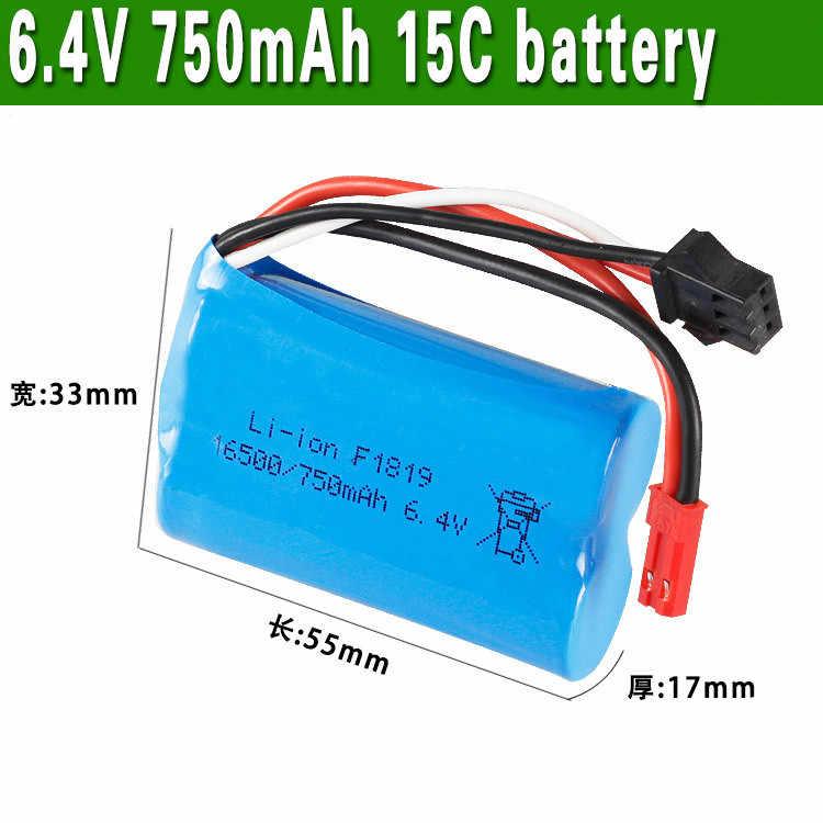 1 2 3 шт. 6,4 в 750 мАч 16500 литий-ионным аккумулятором для A959-A A969-A A979-A K929-A RC для грузовых автомобилей, высокое качество