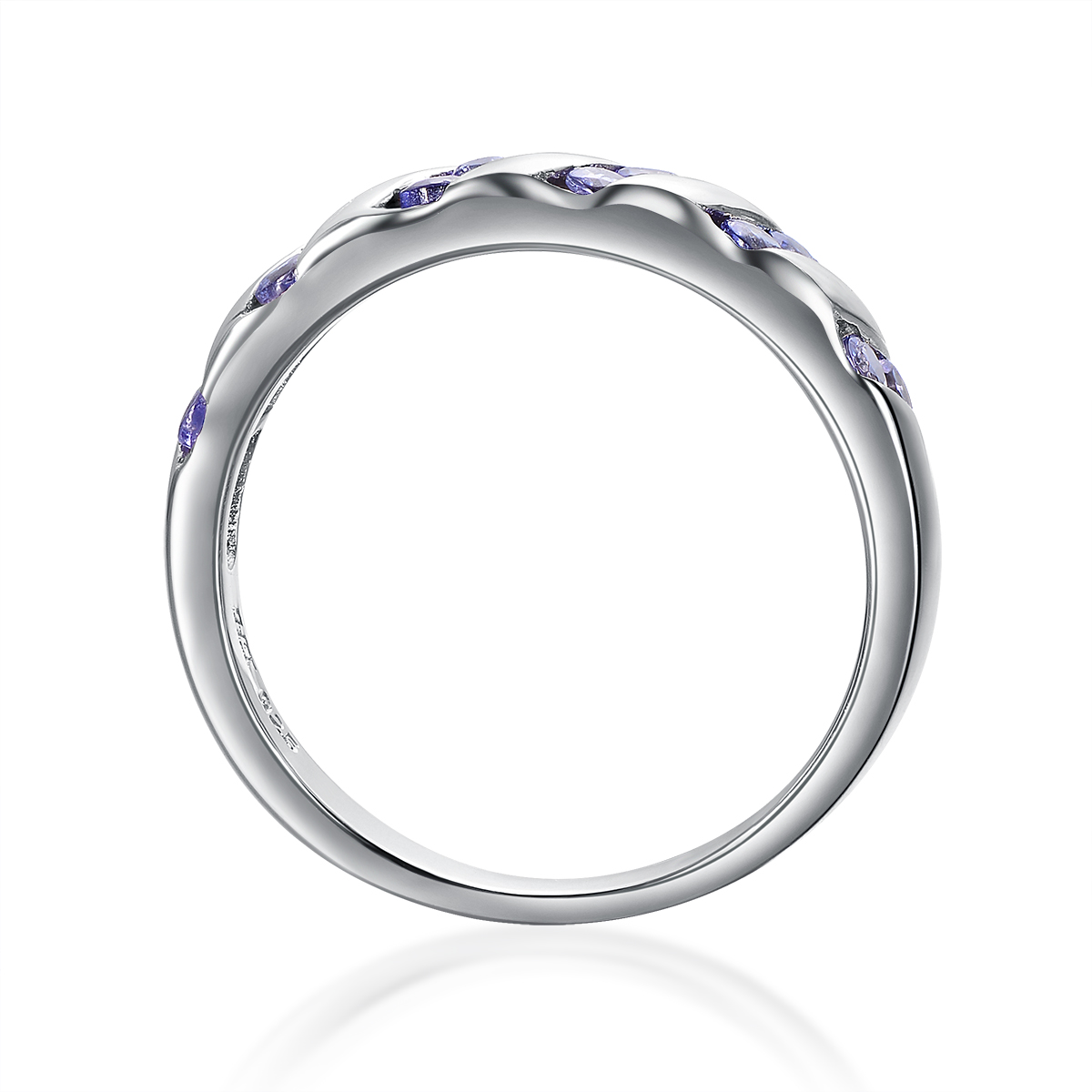 Hutang Classic Natural Tanzanite Gemstone Solid 925 Sterling Silver Jewelry Sets Earrings & Ring Womens Fine Jewellry Gift