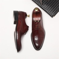 New fashion Pointed sneakers men business dress shoes single shoes leather brogue shoes men
