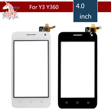 10pcs/lot 4.0 For Huawei Y3 Y360 Y360-CL00 Y360-U03 Y360-U23 Y360-U3  Touch Screen Digitizer Sensor Outer Glass Lens Panel